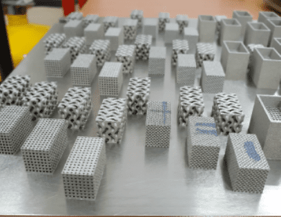 3D printed Ti-6Al-4V parts with various porous structures